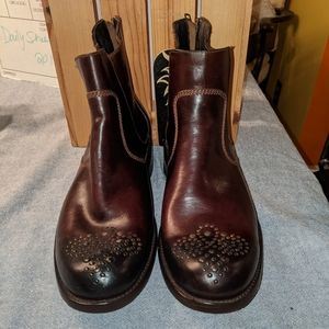 Muro hand crafted Oxblood ankle boots sz 9/11